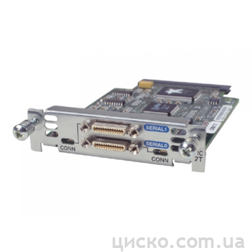 TypeHWIC-2A/S. 2-Port Async/Sync Serial WAN Interface Card.